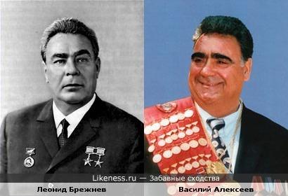 Советский спортсмен,чемпион и тренер Василий Алексеев и Леонид Брежнев