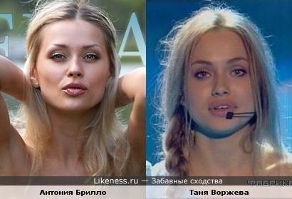 Модель похожа на Таню Воржеву
