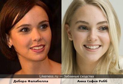 Дебора Фалабелла и Анна София Робб
