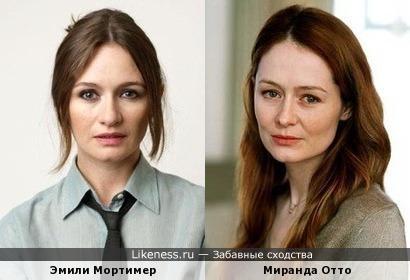 Эмили Мортимер и Миранда Отто