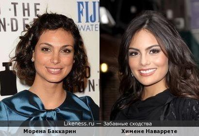 Морена Баккарин и Химене Наваррете