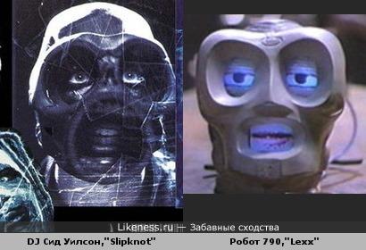 """Участник группы """"Slipknot"""" похож на робота из """"Lexx"""""""