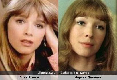 Элен Ролле похожа на Марину Левтову