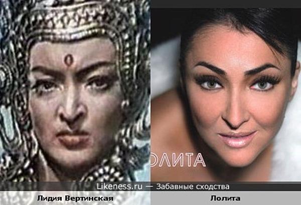 Лидия Вертинская похожа на Лолиту