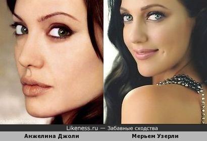 На этом фото Мерьем Узерли похожа на Анжелину Джоли
