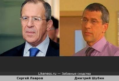 Дмитрий Шубин похож на Сергея Лаврова