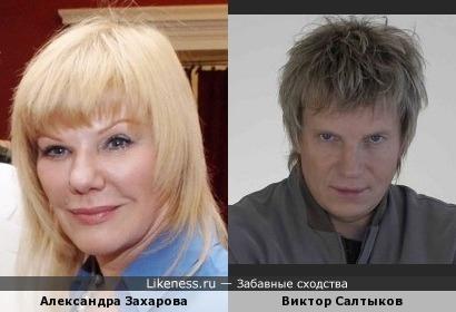 Александра Захарова похожа на Виктора Салтыкова