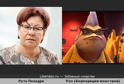 """Рута Пазадре похожа на персонажа из """"Корпорации монстров"""""""