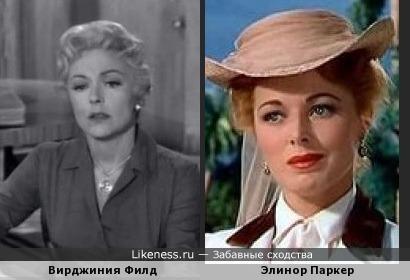 Вирджиния Филд похожа на Элинор Паркер