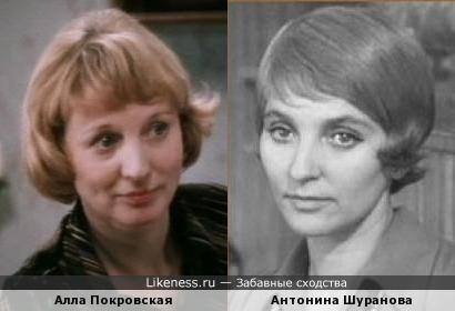 Алла Покровская похожа на Антонину Шуранову