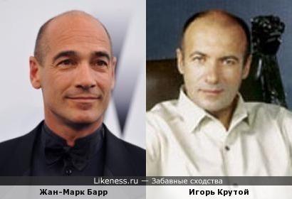 Жан-Марк Барр и Игорь Крутой