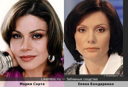 Мария Сорте и Елена Бондаренко