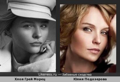 Хлоя Грейс Морец и Юлия Подозерова