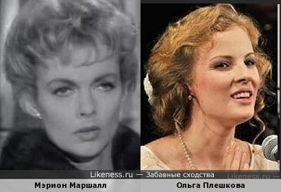 Мэрион Маршалл и Ольга Плешкова