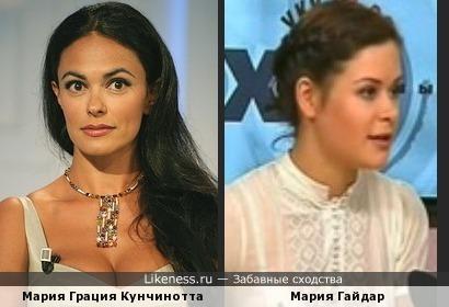 Мария Грация Кунчинотта и Мария Гайдар