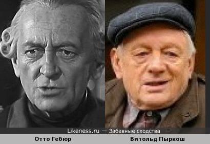 Отто Гебюр и Витольд Пыркош