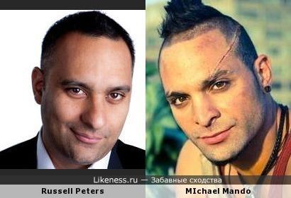 Рассел Питерс похож на Майкла Мэндо (Ваас Монтенегро из Far Cry 3)