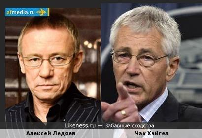 Алексей Ледяев похож на Чака Хэйгела