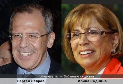 Ирина Роднина напоминает Сергея Лаврова