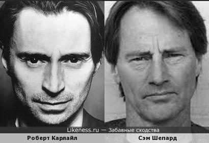 Роберт Карлайл похож на Сэма Шепарда