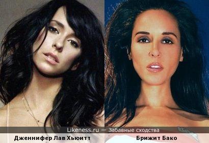 Дженнифер Лав Хьюитт и Брижит Бако как сестры