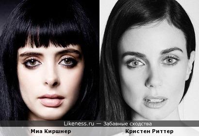 Кристен Риттер и Миа Киршнер похожи