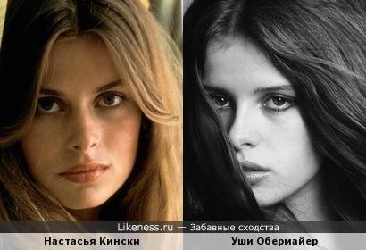 Немецкая фотомодель 70-х Уши Обермайер похожа на молоденькую Настасью Кински