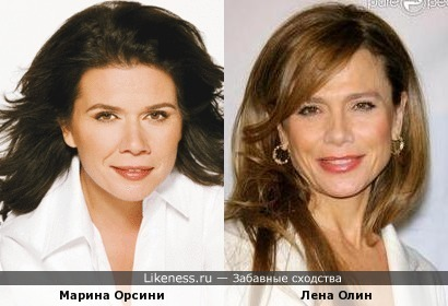 Марина Орсини и Лена Олин