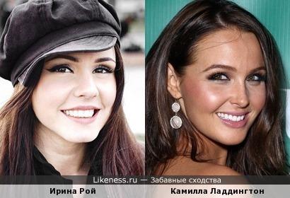 Ирина Рой и Камилла Ладдингтон