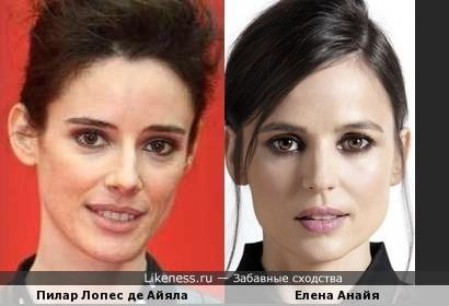 Пилар Лопес де Айяла и Елена Анайя