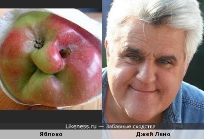 Очень знаменитое яблоко напомнило неочень знаменитого Джея Лено