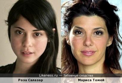 Роза Салазар и Мариса Томей