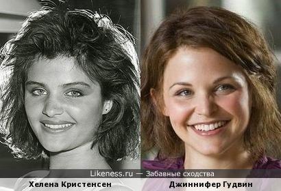 Хелена Кристенсен и Джиннифер Гудвин