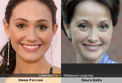Эмми Россам и Ольга Кабо