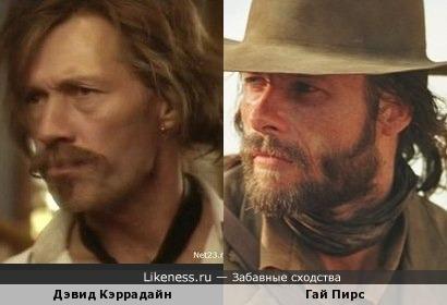 Дэвид Кэррадайн и Гай Пирс