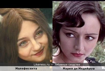 Юная Малефисента, как взрослая Мария де Медейруш