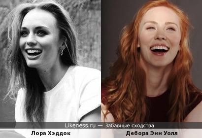 Лора Хэддок и Дебора Энн Уолл