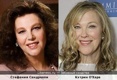 Стефания Сандрелли и Кэтрин О'Хара