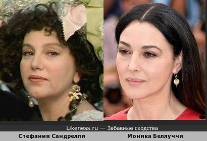 Стефания Сандрелли и Моника Беллуччи
