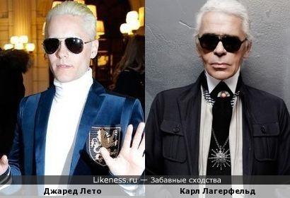 Готовясь к роли Джокера, Джаред Лето стал больше похож на Карла Лагерфельда