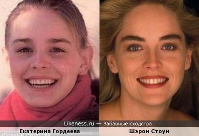 Екатерина Гордеева на этом фото напоминает молодую Шэрон Стоун