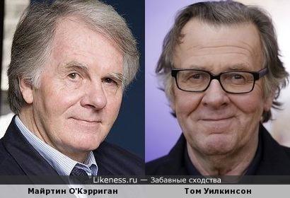 Майртин О'Кэрриган и Том Уилкинсон