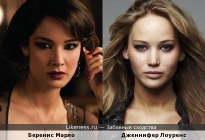 Беренис Марло и Дженнифер Лоуренс