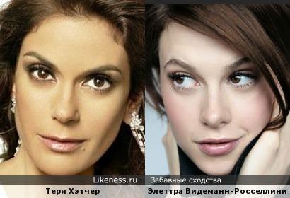 Тери Хэтчер и Элеттра Видеманн-Росселлини