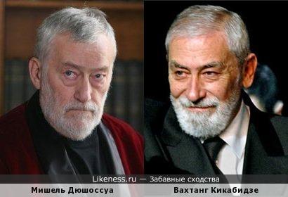 Мишель Дюшоссуа и Вахтанг Кикабидзе