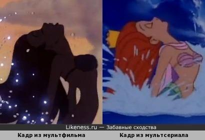 """Сцена диснеевского мультсериала """"Русалочка"""