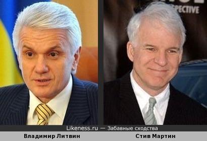 Владимир Литвин напоминает Стива Мартина