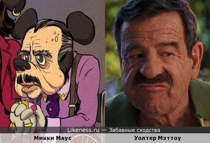 """Микки Маус на старости лет напоминает Джорджа Уилсона из х/ф """"Деннис Мучитель"""""""