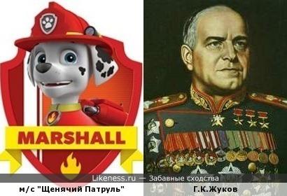 Маршал Щенячего Патруля и Маршал Советского Союза