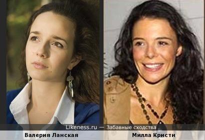 Валерия Ланская и Милла Кристи
